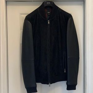 HUGO BOSS Suede and Leather Men's Coat